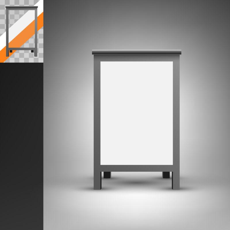 矢量空白正方形广告牌设计