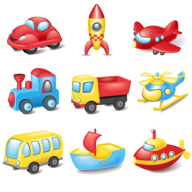 矢量卡通交通运输工具