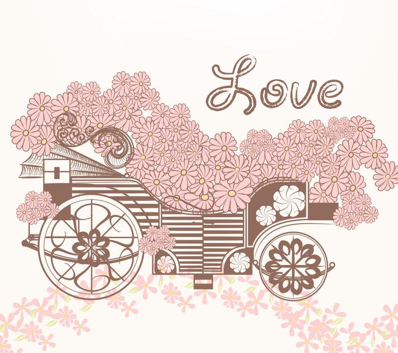 古典花卉插图矢量设计