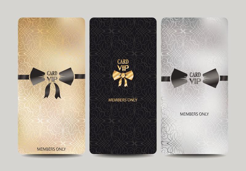 创意矢量蝴蝶元素的会员卡设计