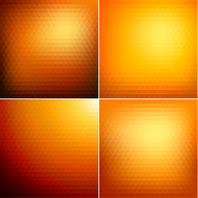 抽象三角彩色矢量背景