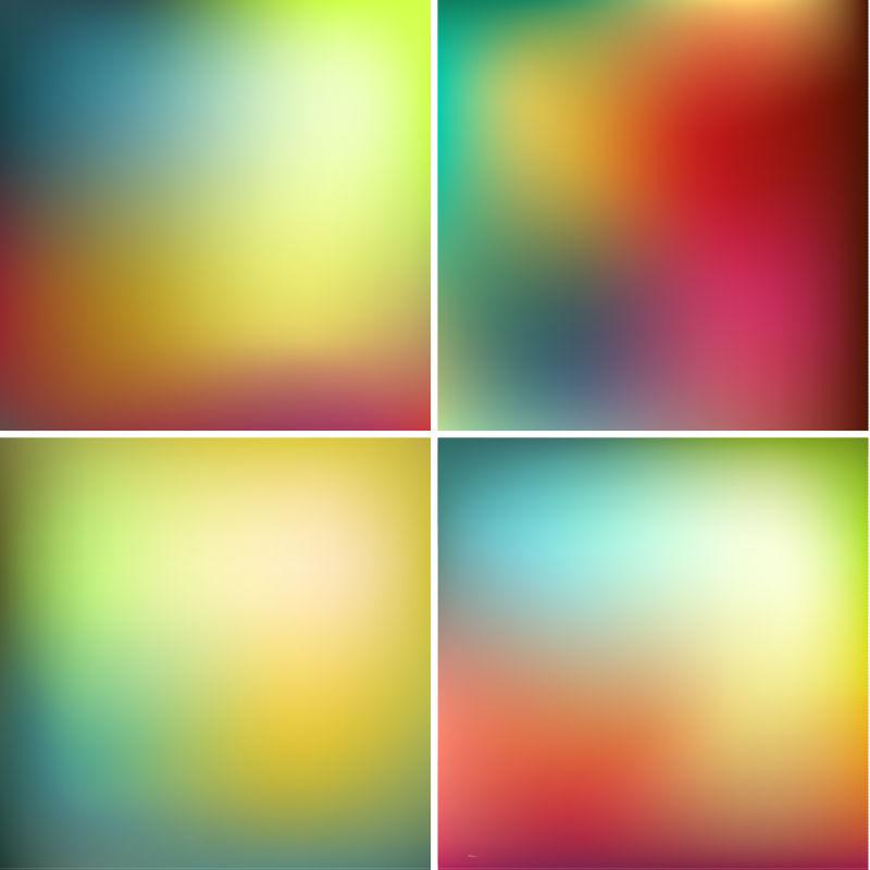 平滑抽象多彩背景矢量图