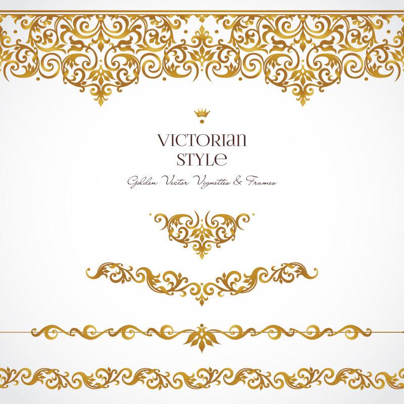 创意矢量华丽金色装饰小册子设计元素