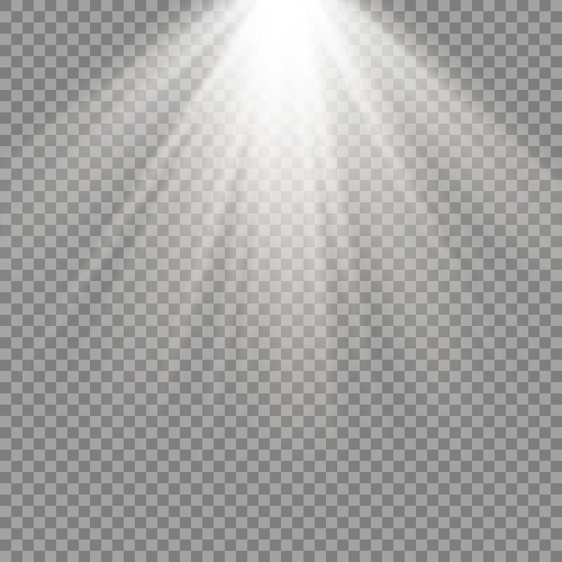 矢量抽象白色聚光灯设计元素
