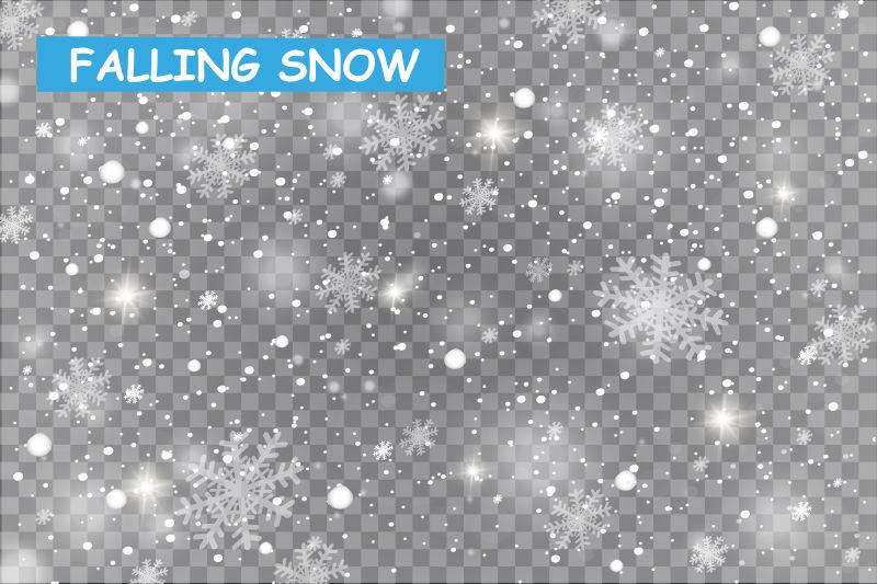 矢量的冬季雪花插图设计
