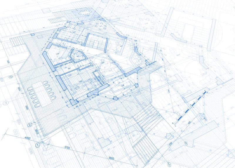 创意失量房屋平面设计蓝图