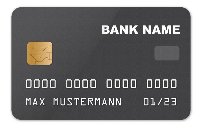 矢量黑色的信用卡