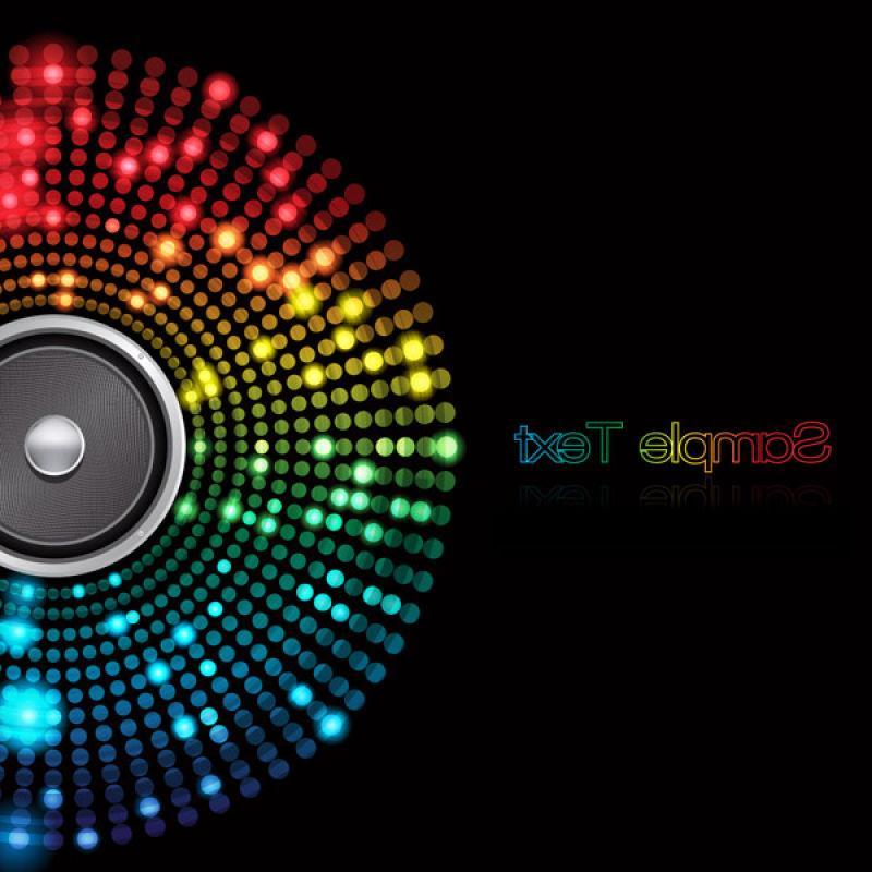矢量彩色扬声器抽象背景