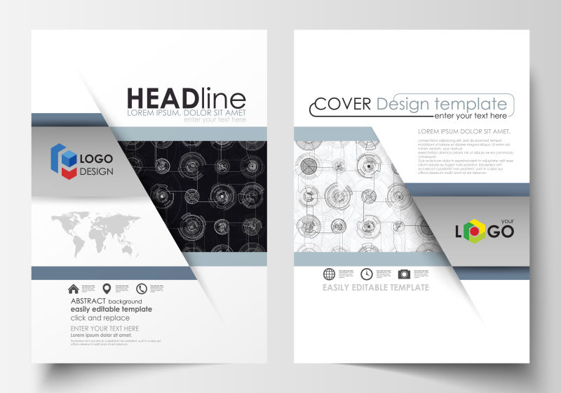 创意矢量现代商业宣传册设计·
