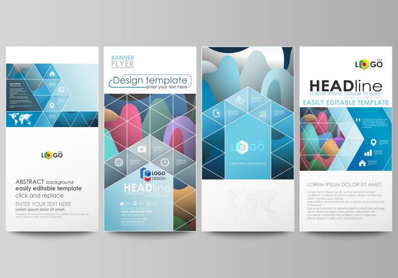 创意矢量现代宣传几何风格的封面设计