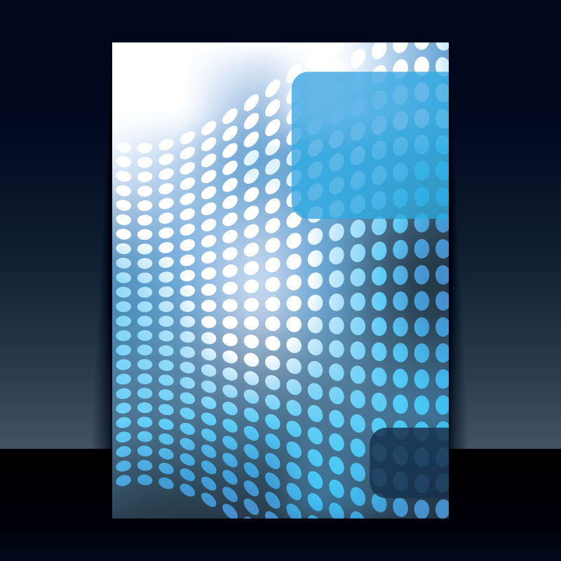 创意几何元素的矢量书刊封面设计