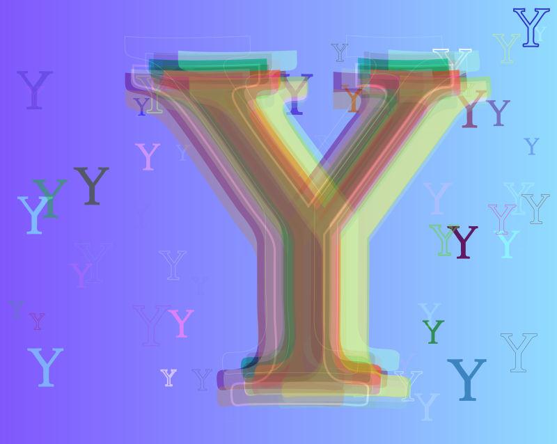 字母Y的抽象矢量背景