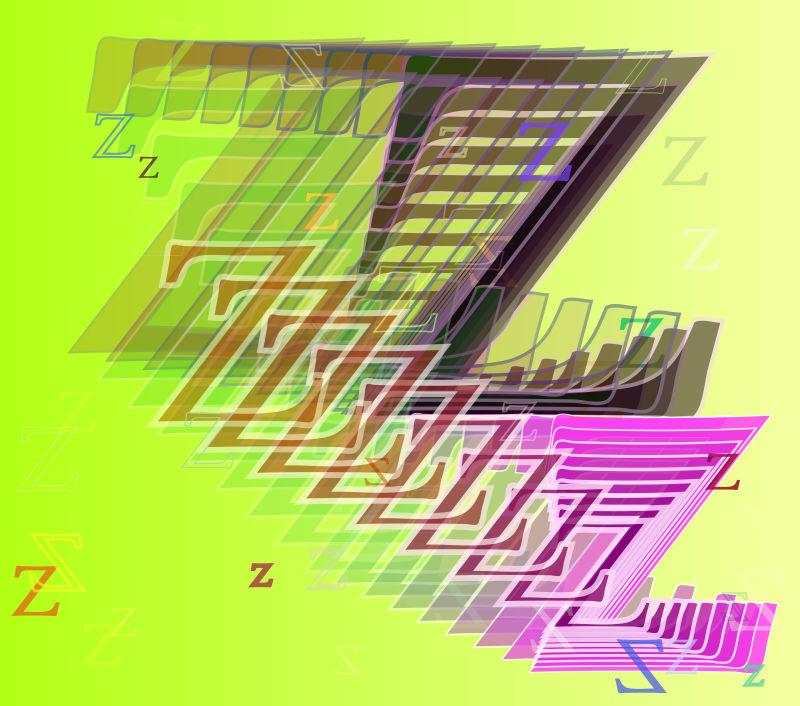 字母Z的矢量动态绘图
