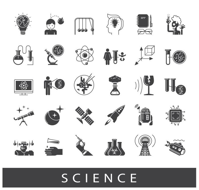 矢量科学概念图标设计