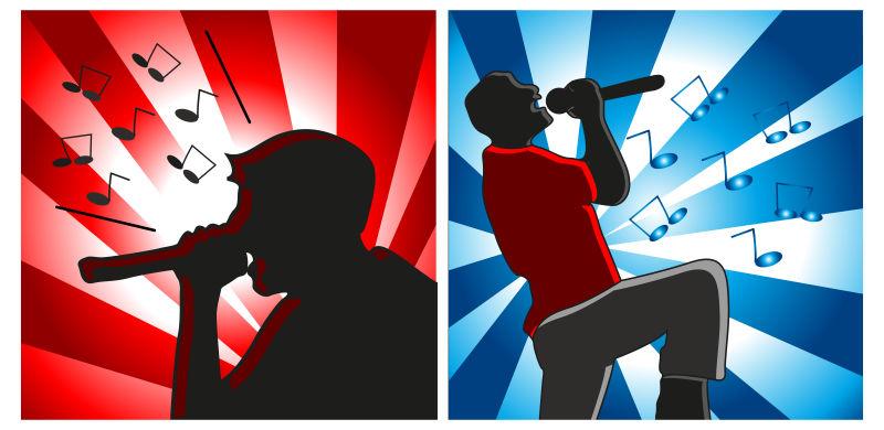 矢量卡通摇滚音乐派对海报设计