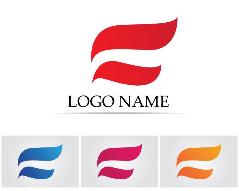 四色金融标识矢量创意logo设计