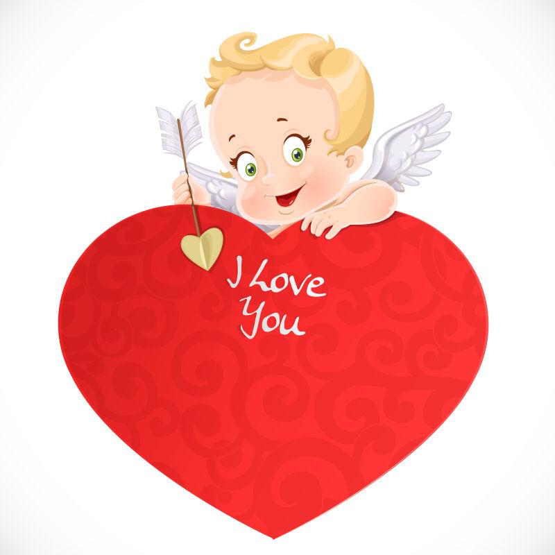 矢量的可爱小天使插图