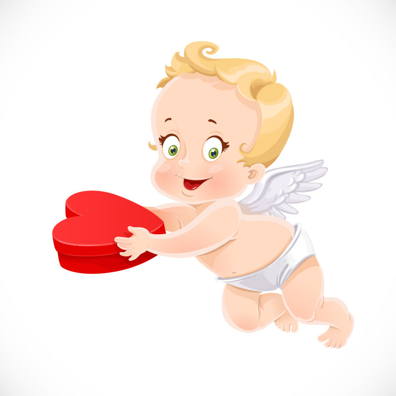 可爱小天使插图矢量设计