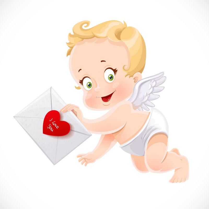 矢量可爱小天使插图