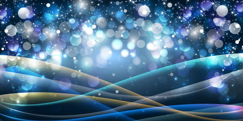 创意矢量蓝色现代光晕设计背景