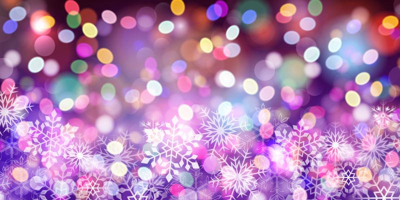 矢量圣诞元素彩色光晕背景
