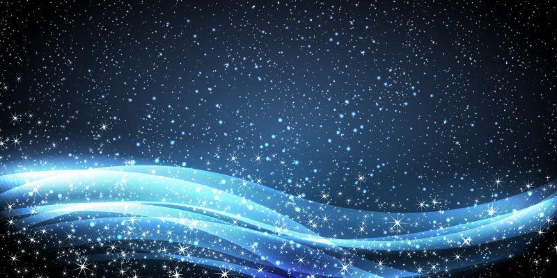 创意矢量蓝色光线设计背景