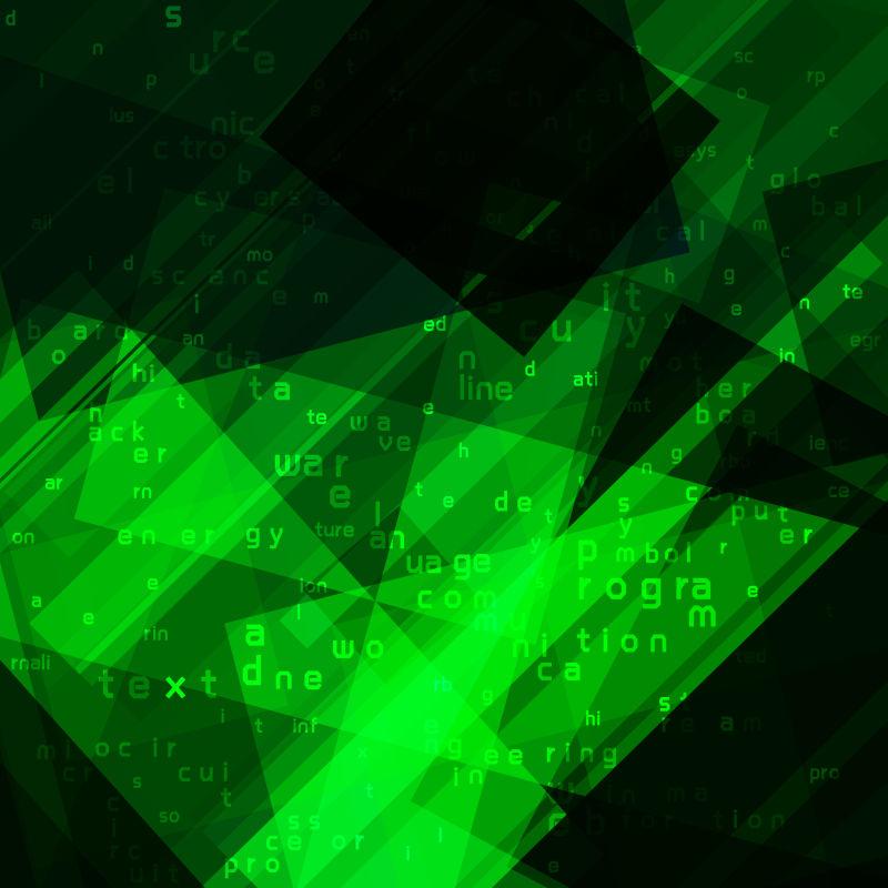 矢量绿色技术图案