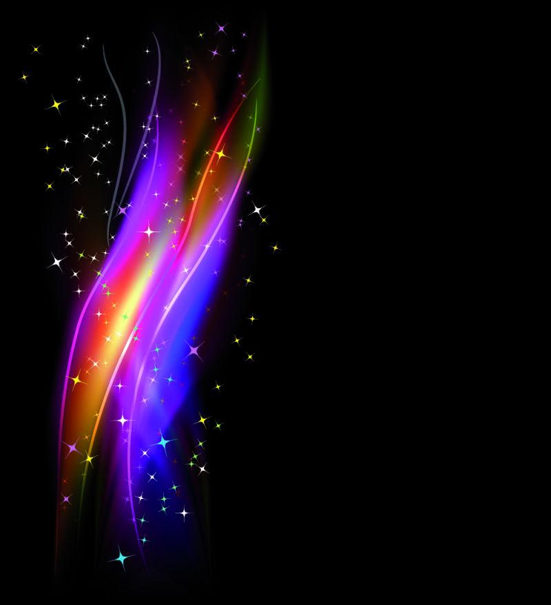 矢量神秘彩色火焰背景