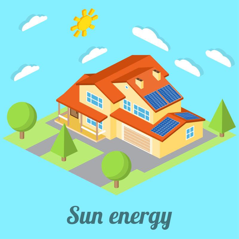 太阳能在住宅方面的利用矢量