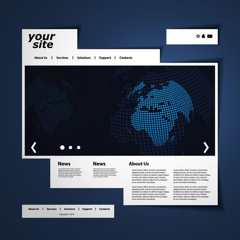 创意矢量全球商业网站设计