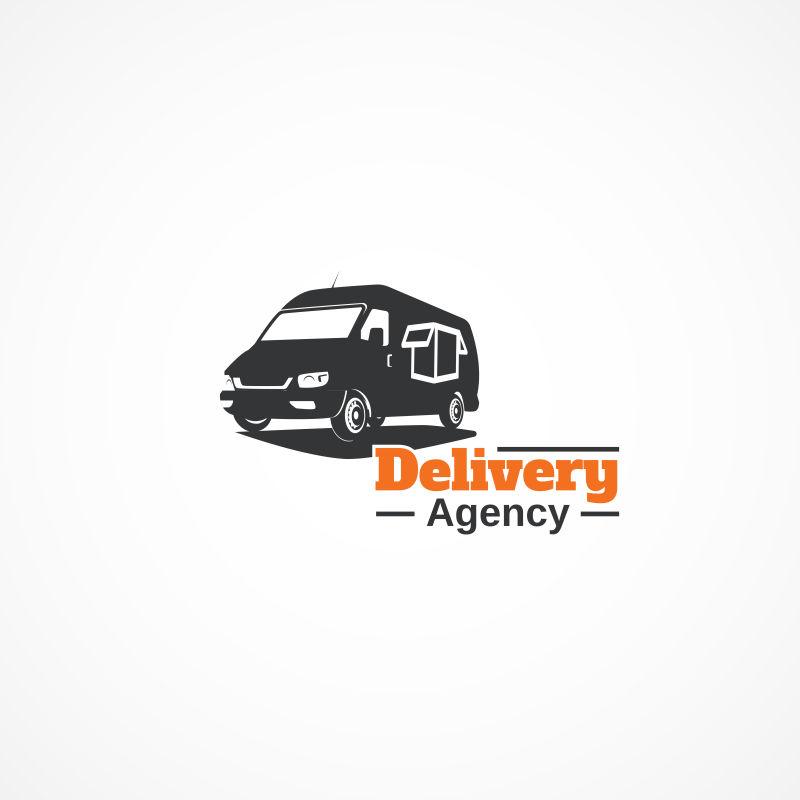 送货车矢量创意logo设计