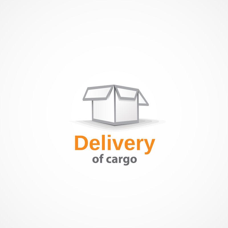 纸板箱交货标志矢量创意设计