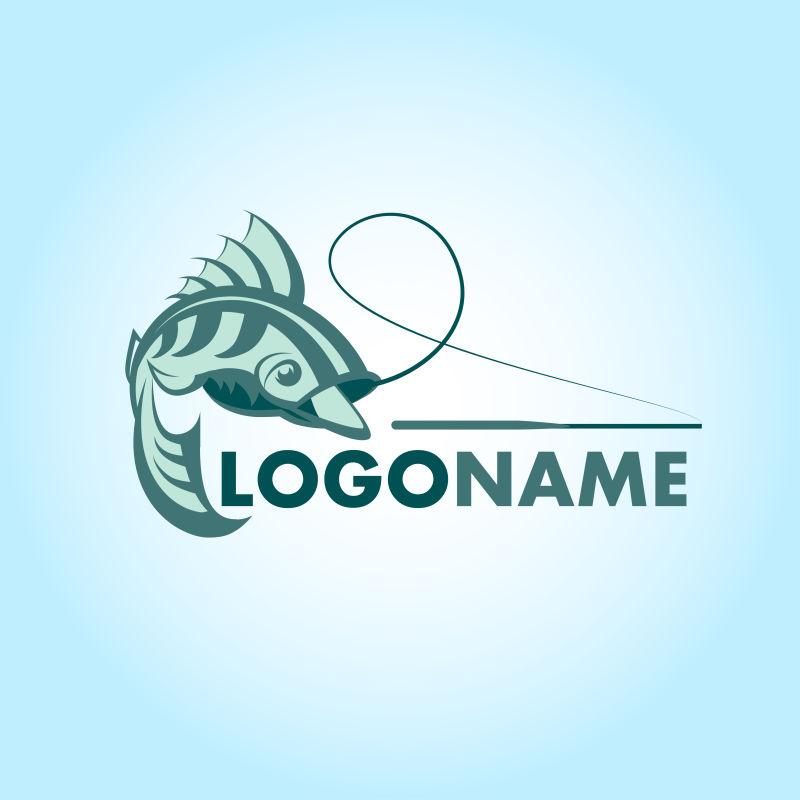 鱼的标志矢量创意logo设计