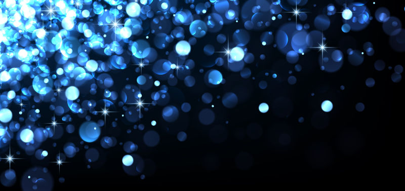 创意矢量蓝色发光设计背景