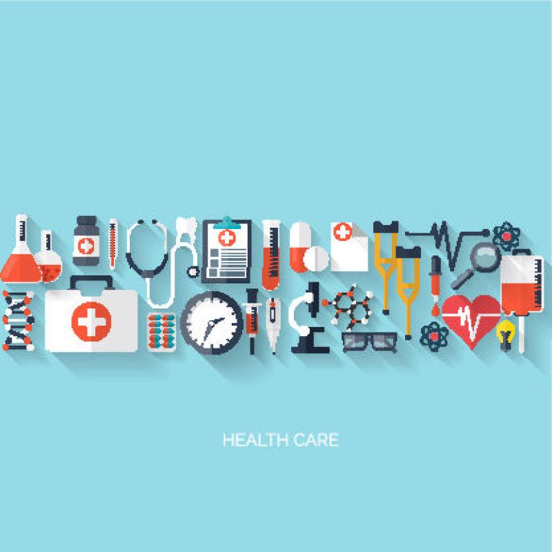 矢量的创意医疗主题插图