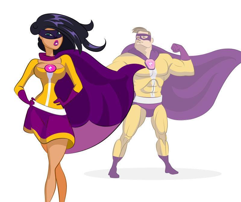 矢量卡通超级英雄