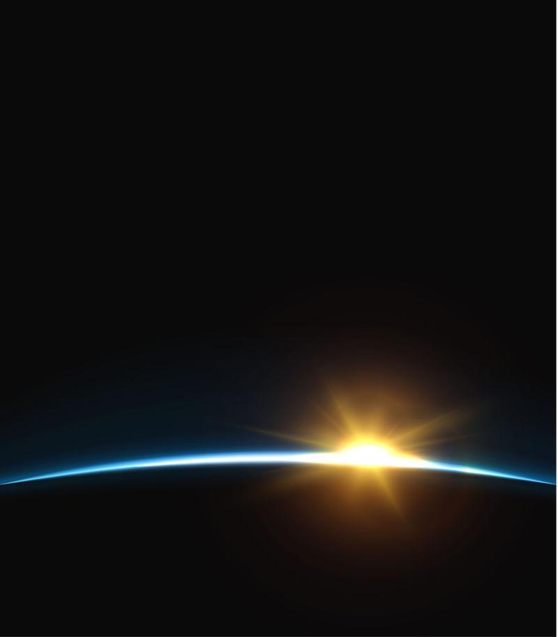 矢量地球日出插图