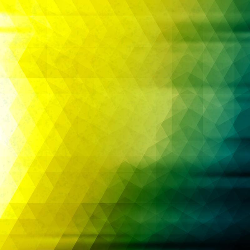 创意矢量黄蓝渐变的几何三角纹理背景