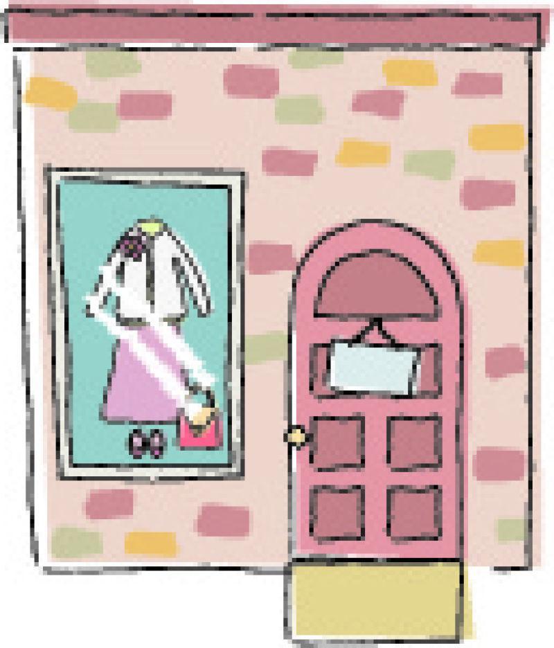 衣店开门营业的平静生活插图矢量