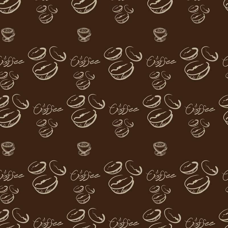 矢量绘图咖啡画标签