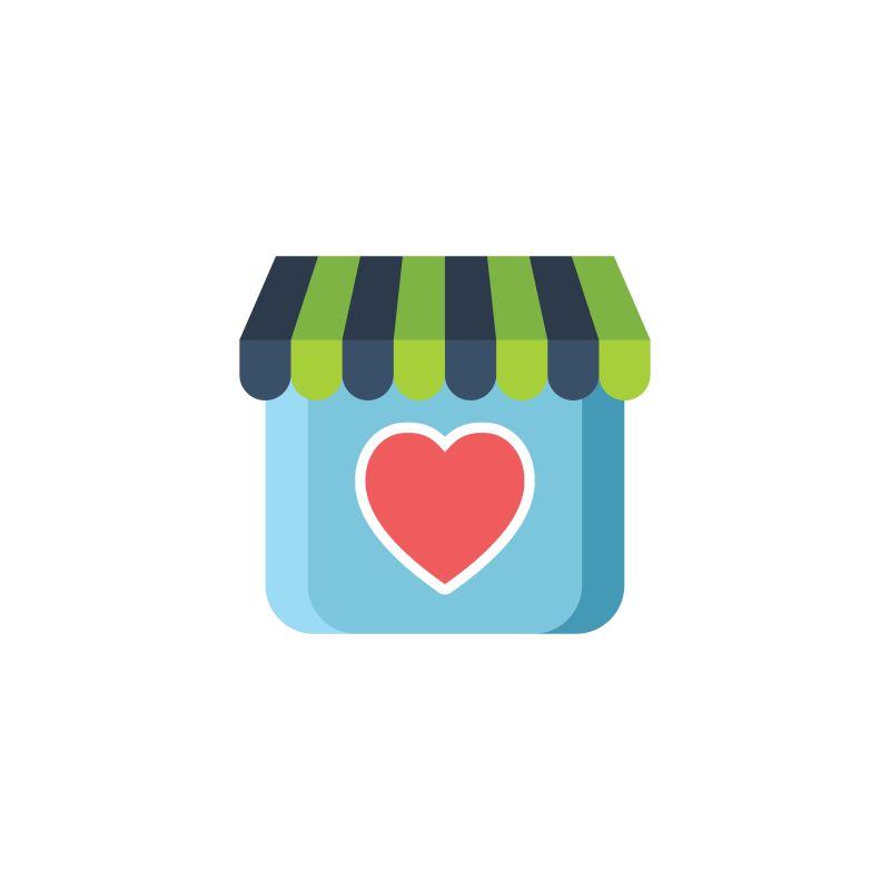 店铺爱情标志矢量设计