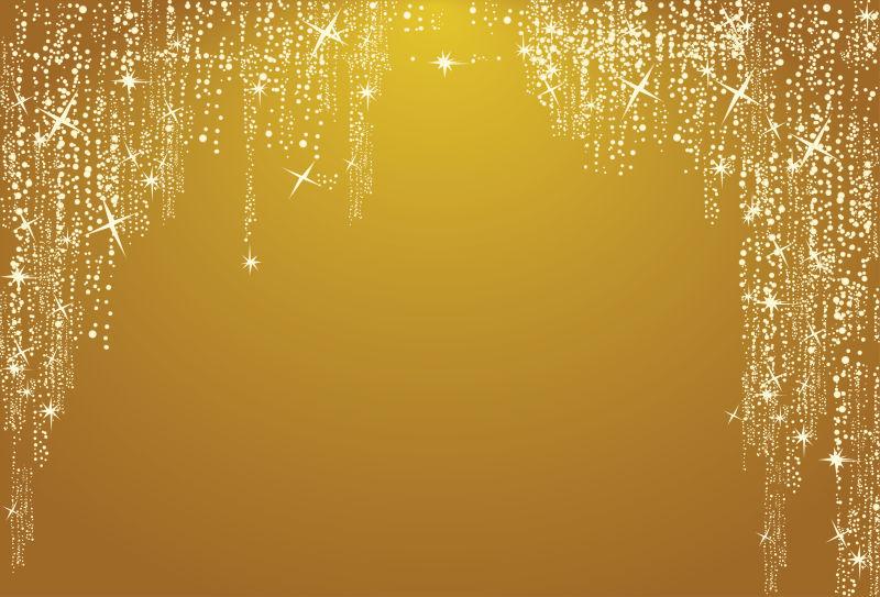 抽象矢量金色闪亮光点元素背景
