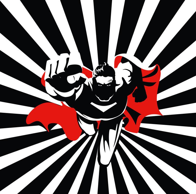 超级英雄海报插图矢量设计
