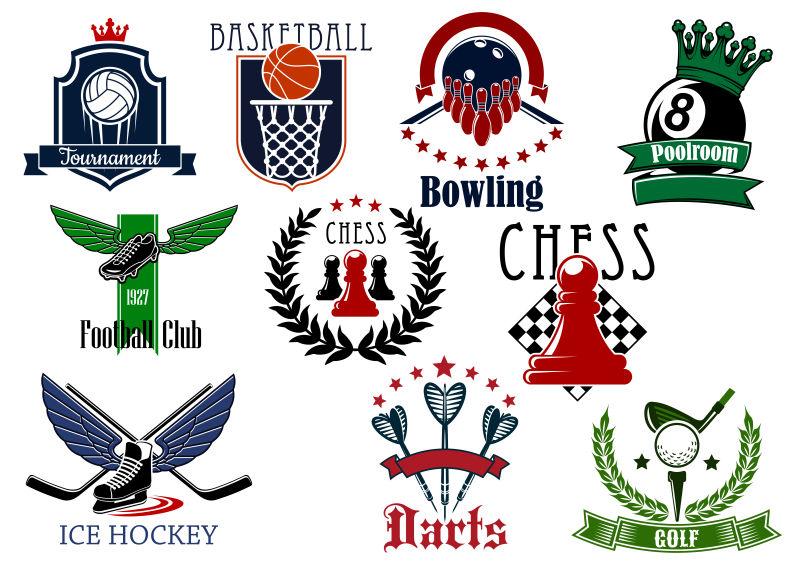 矢量创意体育相关标志设计