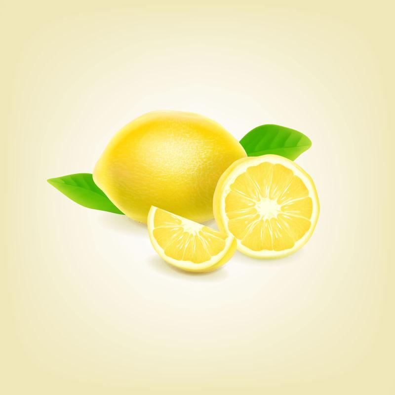 新鲜的柠檬矢量插图