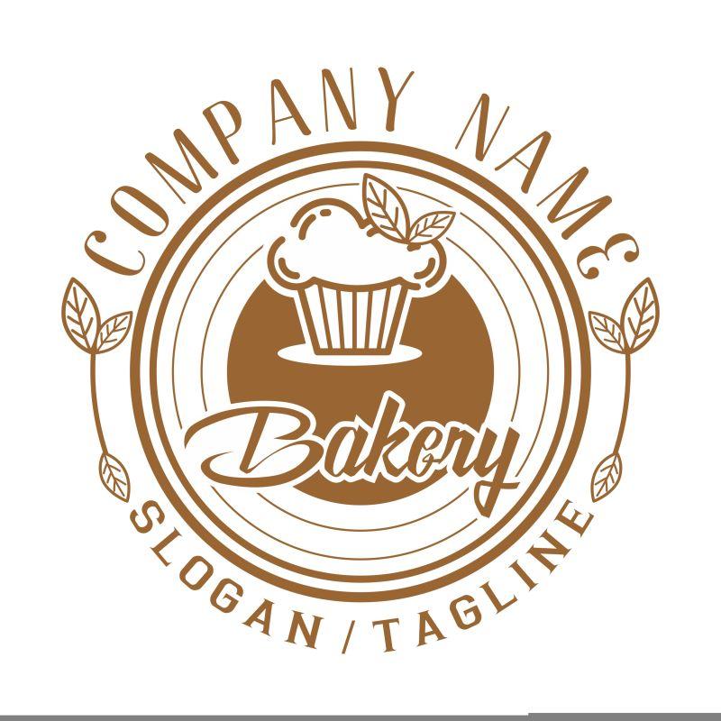 矢量的松饼店标识设计