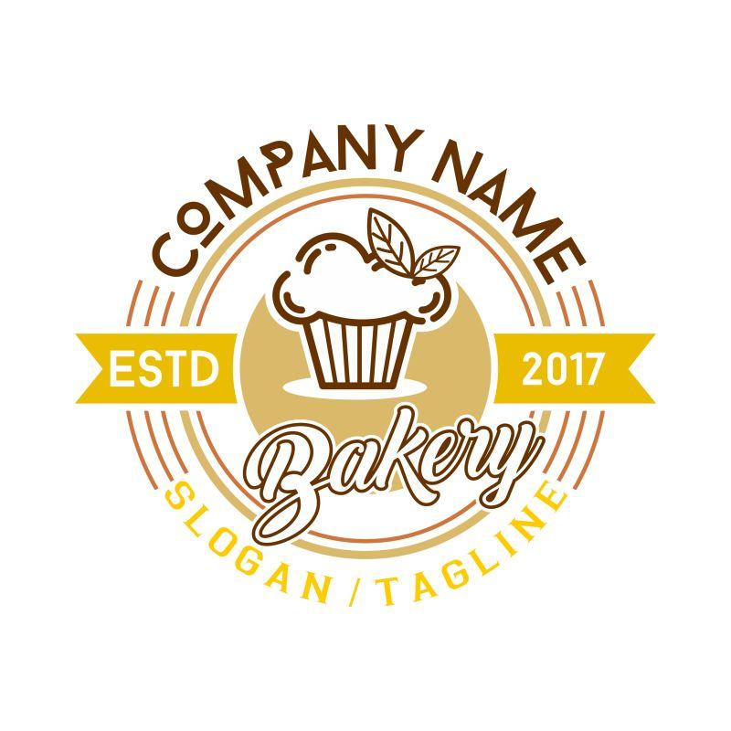 矢量松饼店标识设计
