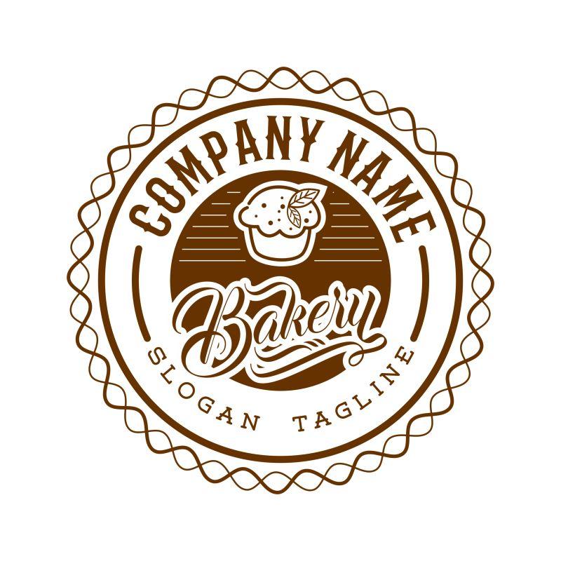 松饼店标识矢量设计