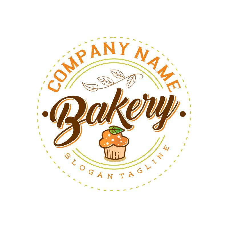 矢量面包店创意标签