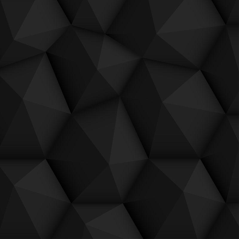 黑色立体多边形背景矢量设计